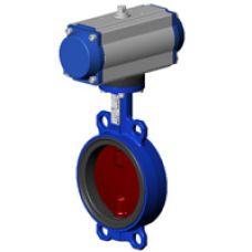 Дисковый поворотный затвор с пневматическим приводом двухстороннего действия VPI 4448-N03 Tecofi